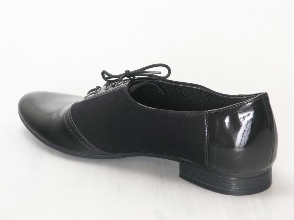 c147512c156 Naiste paeltega kingad musta värv. Kinnised kingad. Madal konts < 2 cm.  Pealsematerjal: kunstlik lakkmaterjal. Sisevooder: naturaalne + kunstnahk.